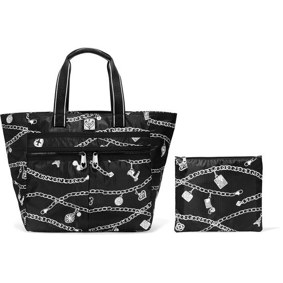 Brighton Lock It Super Tote in Links of Love