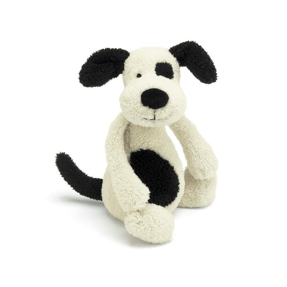 Jellycat Bashful Black Cream Puppy - 7