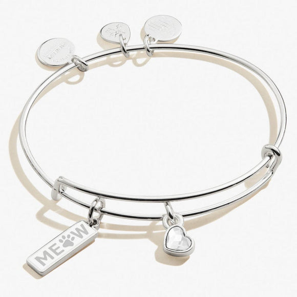 Alex and Ani Meow Duo Charm Charm Bangle