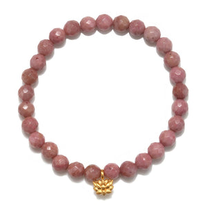 Satya Jewelry Lotus Rhodonite Bracelet