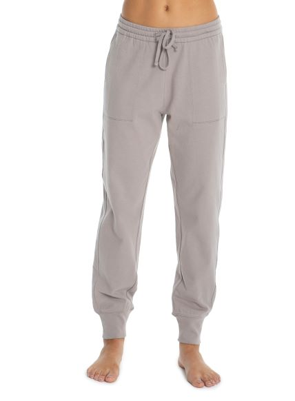 Barefoot Dreams Malibu Collection Women's Brushed Jersey Jogger in Beach Rock