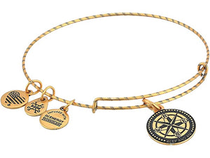 Alex and Ani Embossed Compass Bracelet