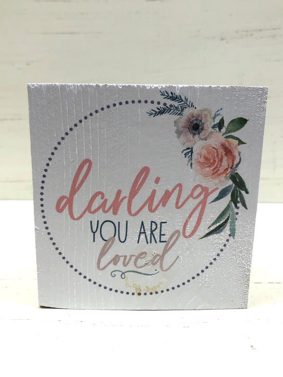 Darling You Are Loved Wooden Block - Home & Gift - SierraLily