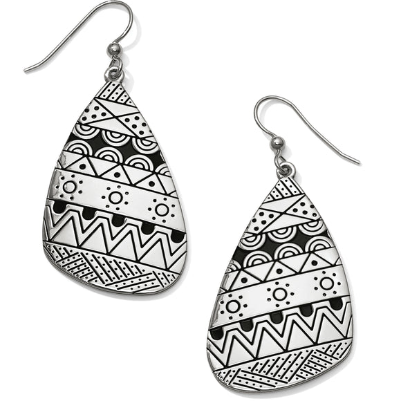 Africa Stories Etched French Wire Earrings - Brighton - SierraLily
