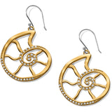 Brighton Sea Shore Nautilus French Wire Earrings