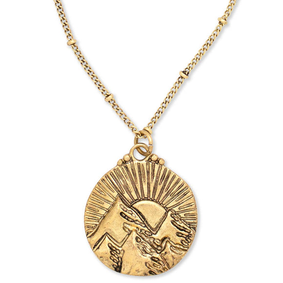Hiouchi Jewels Mountains of the Sun Necklace | Gold