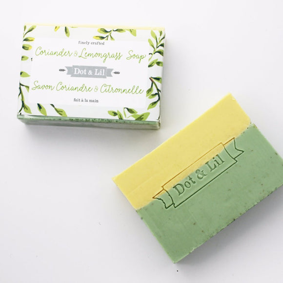 Dot & Lil Coriander and Lemongrass Soap