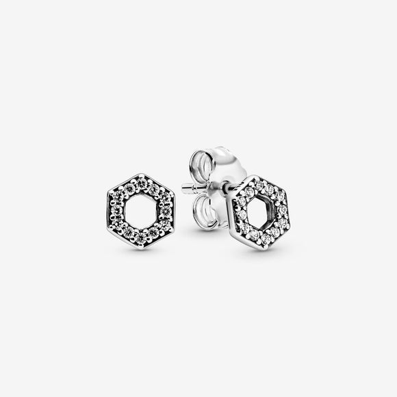 Sparkling Honeycomb Hexagon Stud Earrings - Jewelry - SierraLily