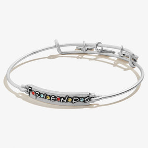 Alex and Ani Friends Logo Bar Expandable Wire Bangle