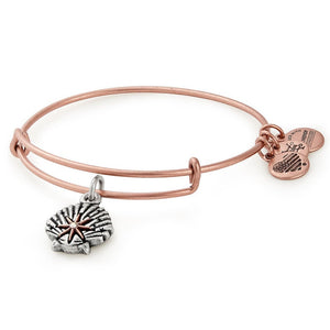 Alex and Ani Star of Venus Bangle Two Tone in Rafaelian Rose Gold