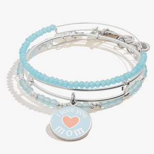 I love you mom set of 3 silver bangles - Jewelry - SierraLily
