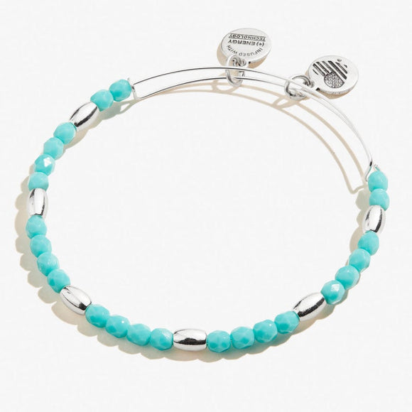 Alex and Ani Mint Green Balance Bead Bangle