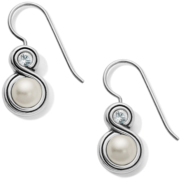 Brighton Infinity Pearl French Wire Earrings