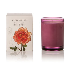 Rosy Rings Signature Collection Botanica Glass Candle - Apricot Rose