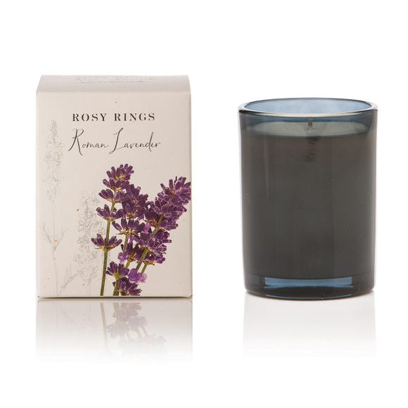 Rosy Rings Signature Collection Botanica Glass Candle - Roman Lavender