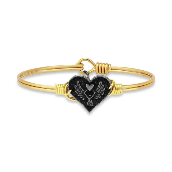 Luca + Danni Angel Heart Bangle Bracelet in Gold - Jewelry - SierraLily