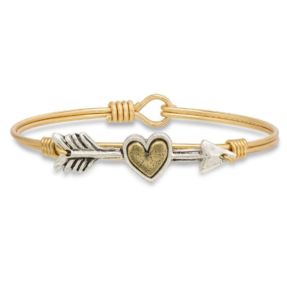 Luca + Danni Follow Your Heart Bangle Bracelet in Gold - Jewelry - SierraLily