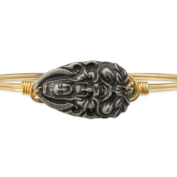 Luca + Danni Laughing Buddha Bangle Bracelet in Gold