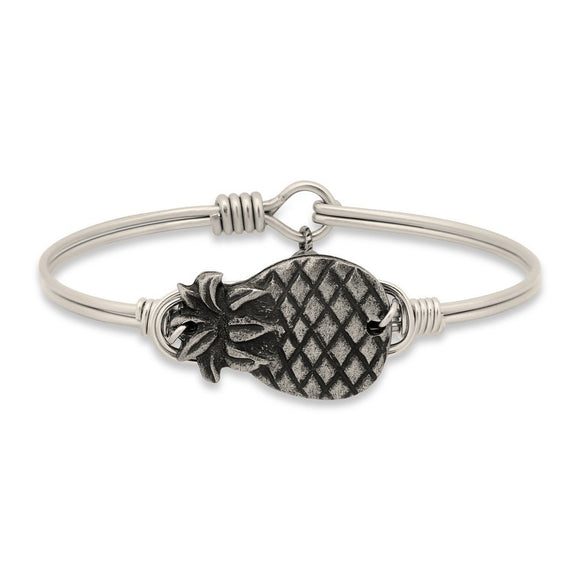 Luca + Danni Pineapple Bangle Bracelet in Silver