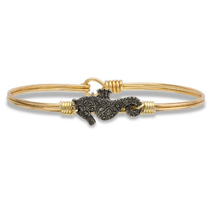 Luca + Danni Seahorse Bangle Bracelet in Gold - Jewelry - SierraLily
