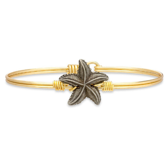 Luca + Danni Starfish Bangle Bracelet in Gold - Jewelry - SierraLily