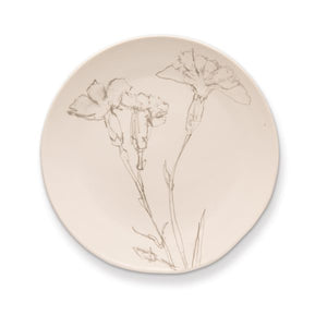 Rosy Rings Ceramic Round Plate Flower