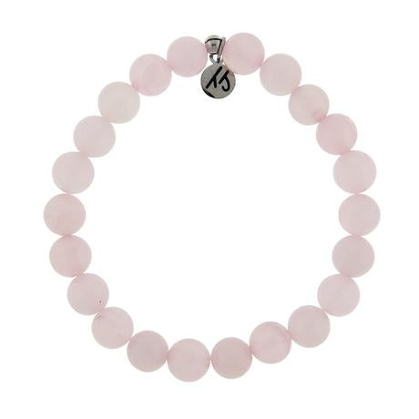 T. Jazelle Defining Bracelet- Kindness Bracelet with Rose Quartz Gemstones