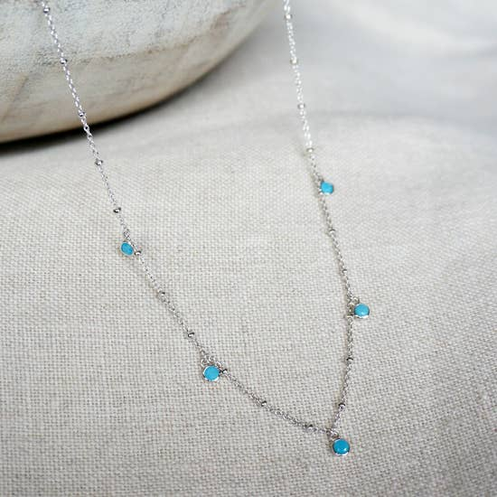 Sowell Jewelry Alana turquoise shaker necklace