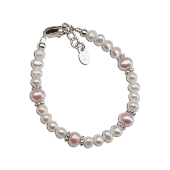 Cherished Moments Addie - Sterling Silver Pearl Baby or Child's Bracelet