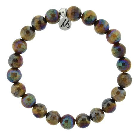 T. Jazelle Defining Bracelet- Strength Bracelet with Tiger's Eye Gemstones