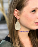 Rose Gold Snakeskin Leather Earrings