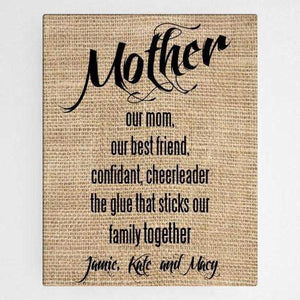 "18""x 24"" Mother Canvas Sign-Home Decor-LTM Endeavors Gifts"