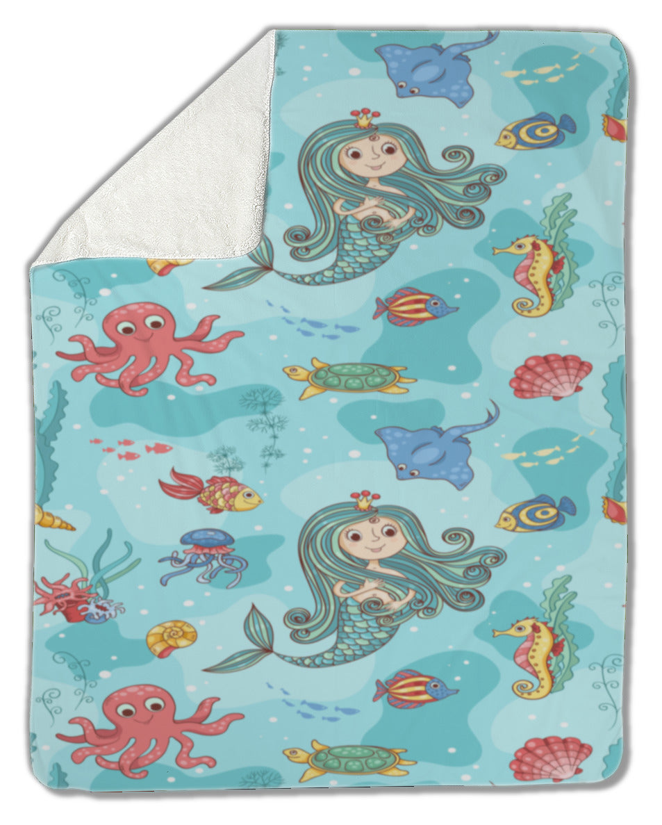 Mermaid Princess Blanket