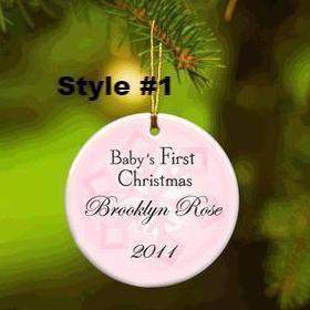Baby Girl's First Christmas Ornament - Available in 2 Styles-Home Decor-LTM Endeavors Gifts
