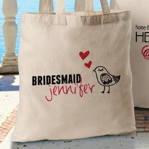 Bridesmaid - Canvas Tote- 12 Designs-Tote Bag-LTM Endeavors Gifts