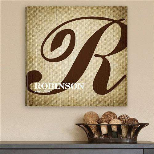 Calligraphy Monogram Canvas Print-Home Decor-LTM Endeavors Gifts