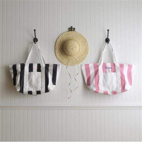 CANDY STRIPED BEACH TOTE BAG-TOTE-LTM Endeavors Gifts
