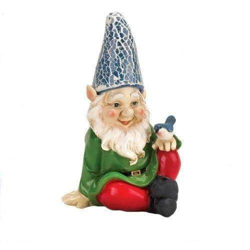 Cheery Gnome Solar Statue-Garden gnomes-LTM Endeavors Gifts