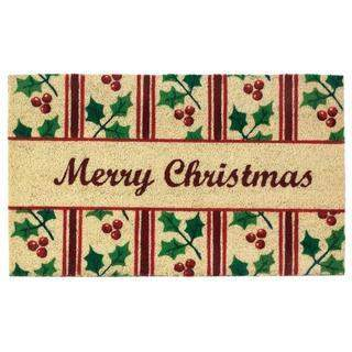 Christmas Holly Welcome Mat-Home Decor-LTM Endeavors Gifts
