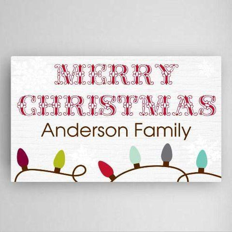 "Christmas Lights Canvas Sign - 14""x 24""-Home Decor-LTM Endeavors Gifts"