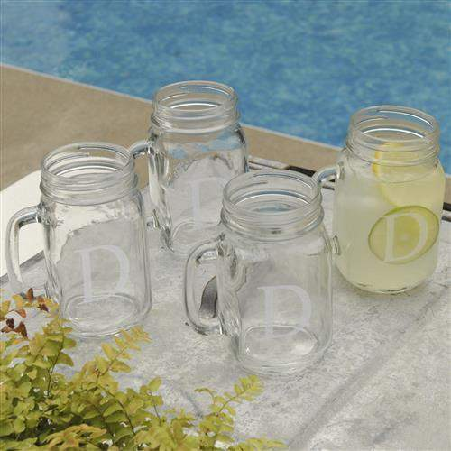 Classic Jar Glass Set of 4-Beverage ware-LTM Endeavors Gifts