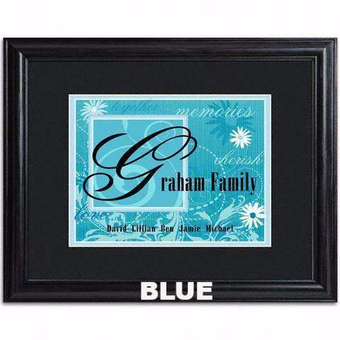 Family Name Frame - Available in 5 Colors-sign-LTM Endeavors Gifts