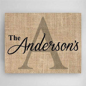 Family Name & Initial Canvas Sign-Canvas Sign-LTM Endeavors Gifts