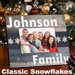 Family Snowflakes Picture Frame - 3 Designs-Picture frame-LTM Endeavors Gifts