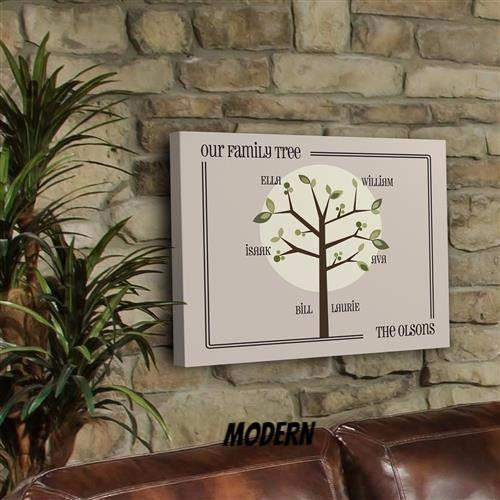 Family Tree Canvas Sign-Home Decor-LTM Endeavors Gifts