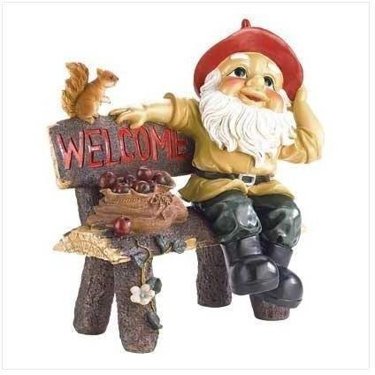 Garden Gnome Greeting Sign-Garden gnomes-LTM Endeavors Gifts