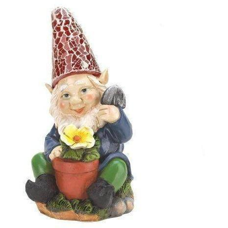 Gardening Gnome Solar Statue-Garden gnomes-LTM Endeavors Gifts
