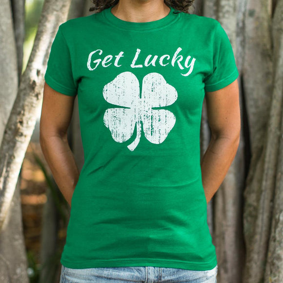 Get Lucky T-Shirt (Ladies)-Ladies T-Shirt-LTM Endeavors Gifts