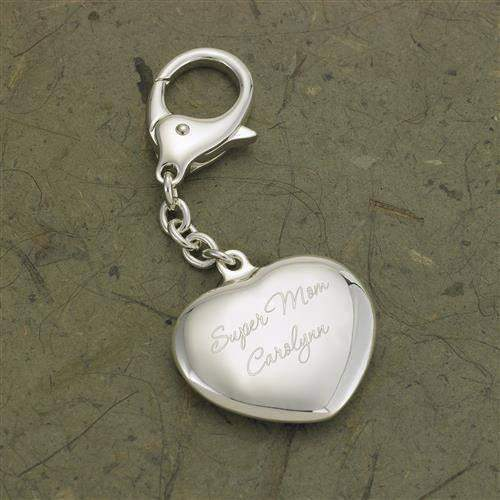 Heart Silver Plated Key Chain-Her-LTM Endeavors Gifts