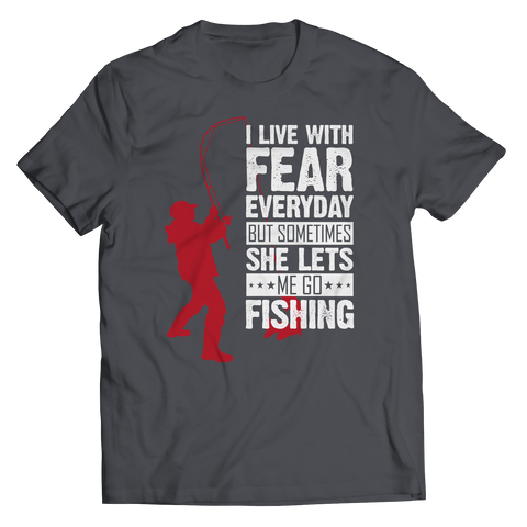 I Live With Fear-Unisex Shirt-LTM Endeavors Gifts